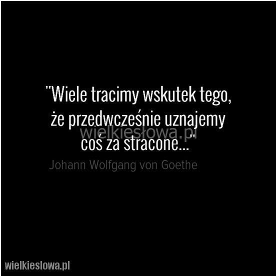 Wiele tracimy wskutek tego... #Goethe-Johann-Wolfgang, #Różne