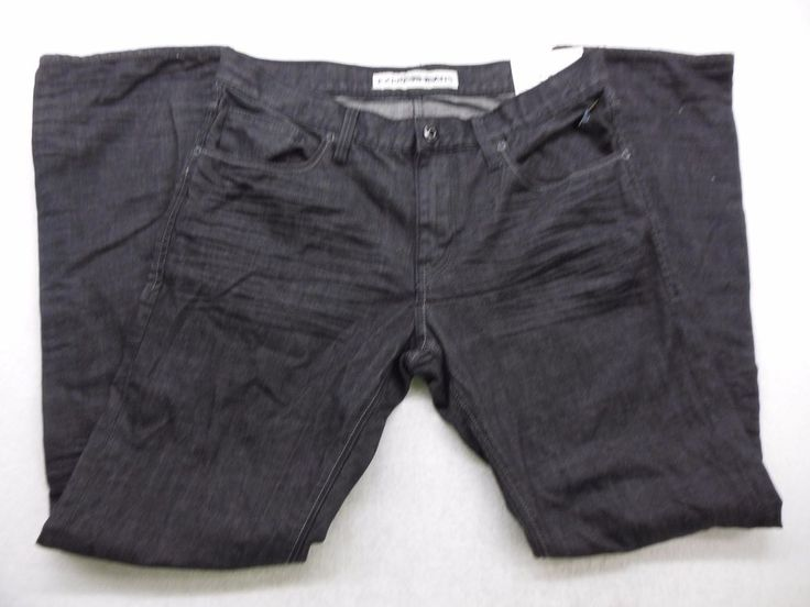 New Express Mens Black Rocco Slim Fit Straight Leg Denim Jeans Size 32 X 32 #Express #SlimSkinny