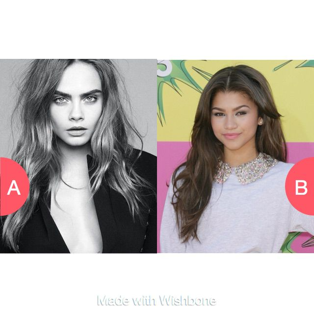 Cara de levine or zendaya ?? Click here to vote @ http://getwishboneapp.com/share/1213453