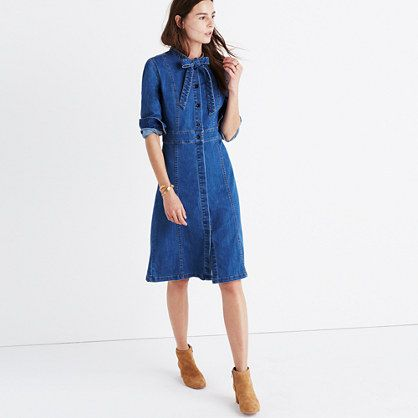 Madewell. Nice waist detail - let the ties hang straight for a casual look.