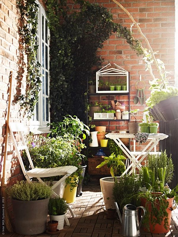 Ideas Para Decorar Mini Terrazas Jardín De Balcón Pequeño