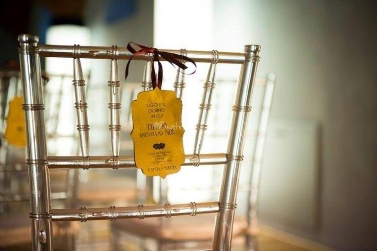 Idea  decoro sedia cerimonia wedding seat decoration @Gli Acquerelli di Loredana