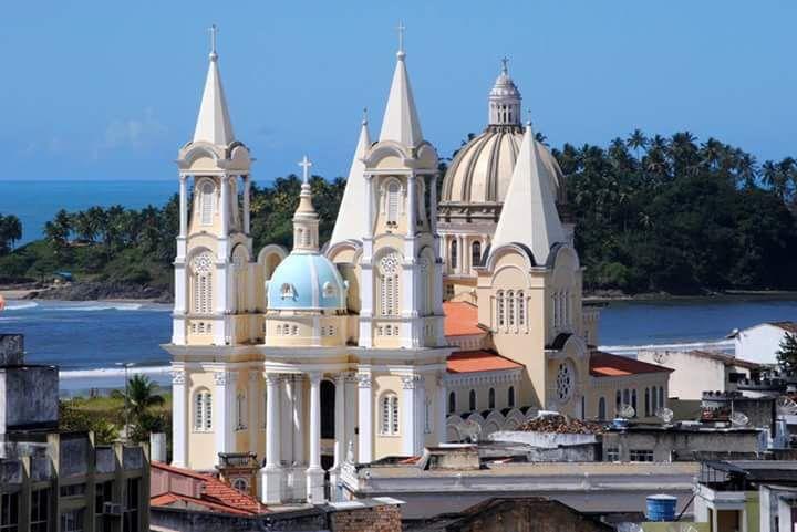 San Sebastian Cathedral, Ilheus-Bahia Brazil  Catedral de Sāo Sebastiāo. Ilhéus, Bahia-Brasil