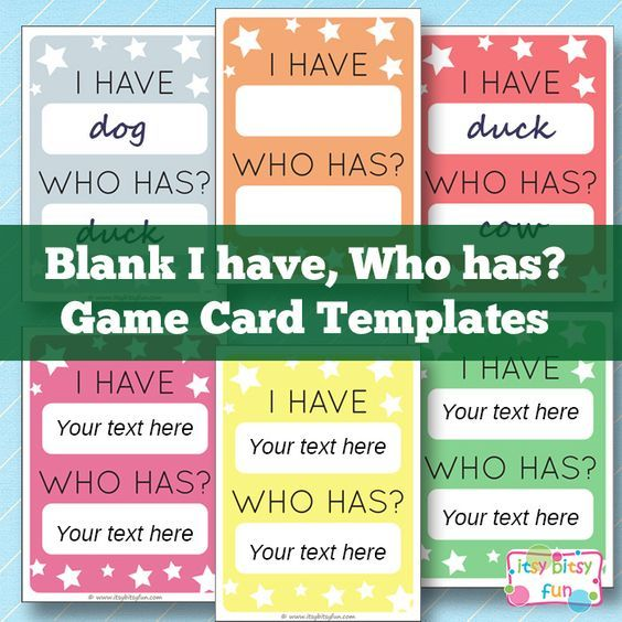 Blank Chart Template Free Free Printable I Have Who Has Template