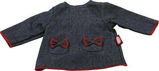 Götz 3402476 Puppenkleid für Stehpuppen, Design denim, Puppenkleidung passend für Puppengrößen 46 - 50 cm