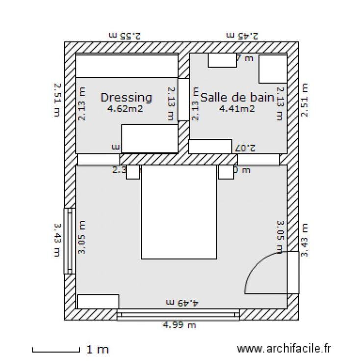 awesome modele de chambre a coucher avec dressing et salle de bain ... - Amenagement Chambre Parentale Avec Salle Bain