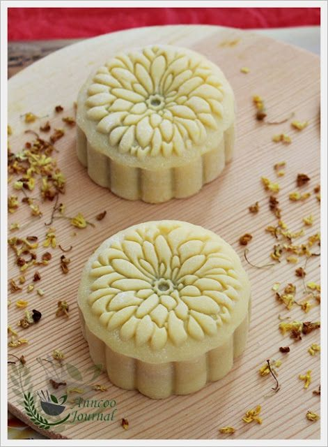 Sakura Snowskin Mooncake/Osmanthus Oolong Snowskin Mooncake   Anncoo Journal - Come for Quick and Easy Recipes