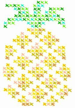 Pineapple cross stitch tattoo