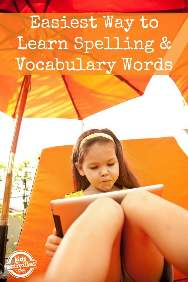 Absolutely the easiest Way to Learn Spelling Words {and Vocabulary too!} - I love this because the kids can work independently.