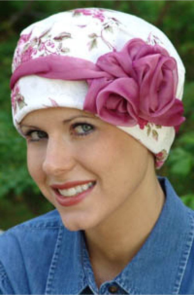 These adorable headbands with a rosette detail look great on cancer and chemo turbans!