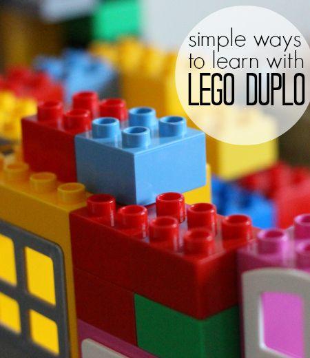 Lego Duplo ideas for preschool learning activities.