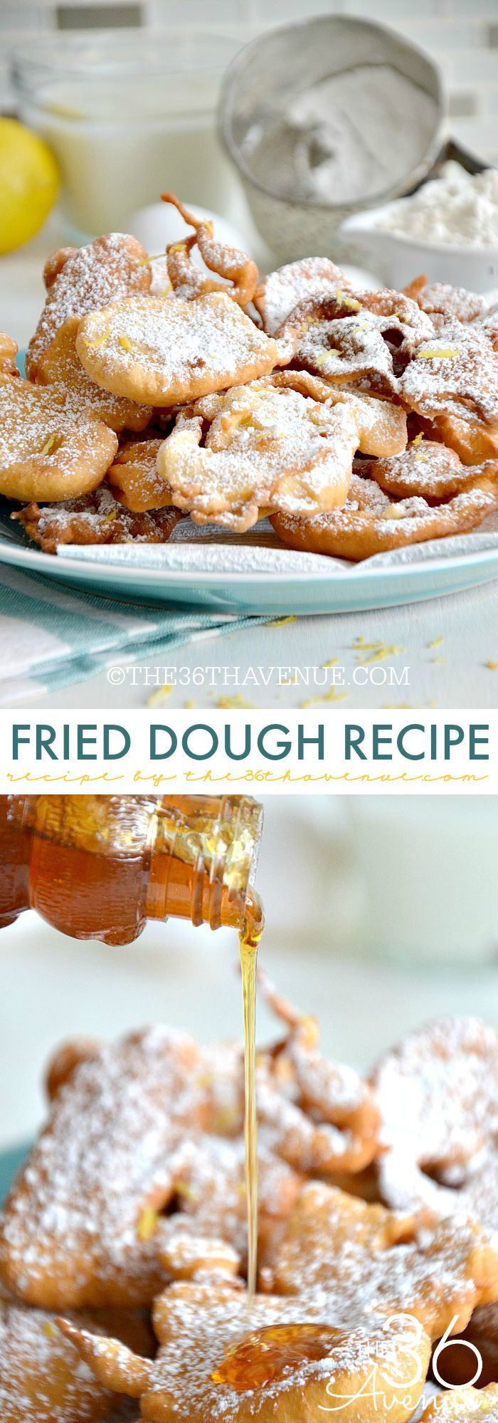 Recipe - Fried Dough Recipe... Such a yummy treat! Read more here http://www.the36thavenue.com/fried-dough-recipe/ 