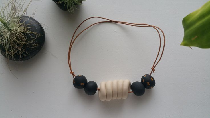 Polymer Clay Necklace - Jerry by BowmanAndQueen on Etsy