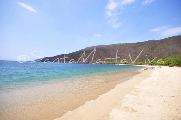 [Bahía Concha] Hermosa playa situada en el Parque Tayrona #Travel #photo
