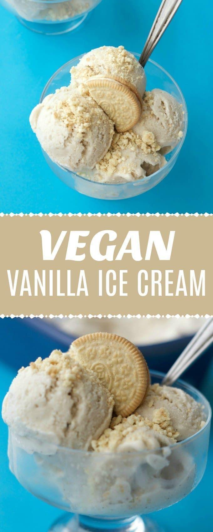 Easy vegan vanilla ice cream recipe