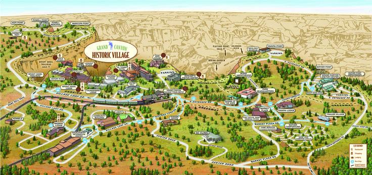 South Rim village