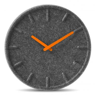 Zegar ścienny Felt 35 orange - LEFF amsterdam - DECO Salon