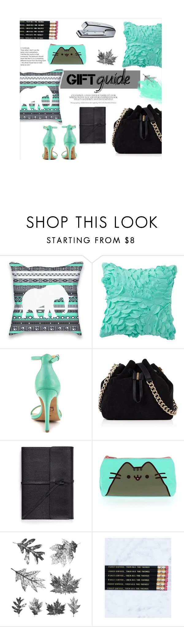 """""""Gift Guide: Work BFF"""" by fashion5eva ❤ liked on Polyvore featuring PBteen, Joe's Jeans, Karen Millen, Bynd Artisan, Pusheen, Tim Holtz, Sweet Water Decor and Swingline"""