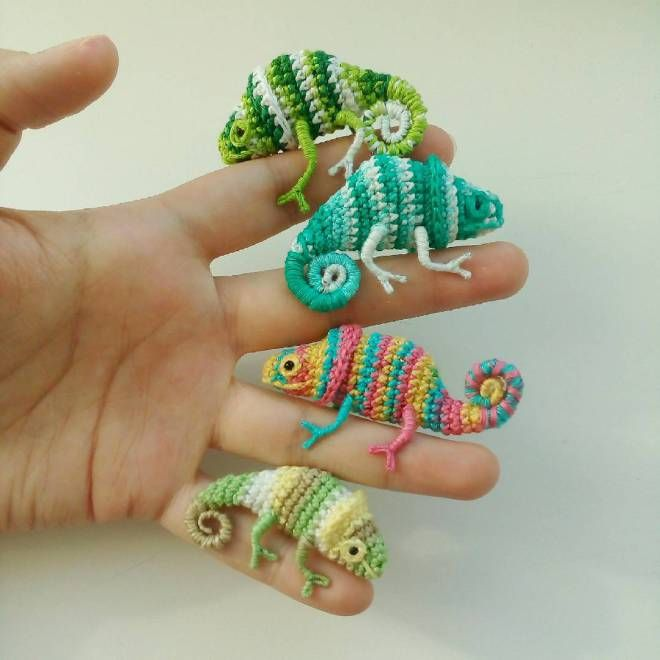 Forget Karma, These Tiny Crochet Chameleons Will Save Us All … (KnitHacker)