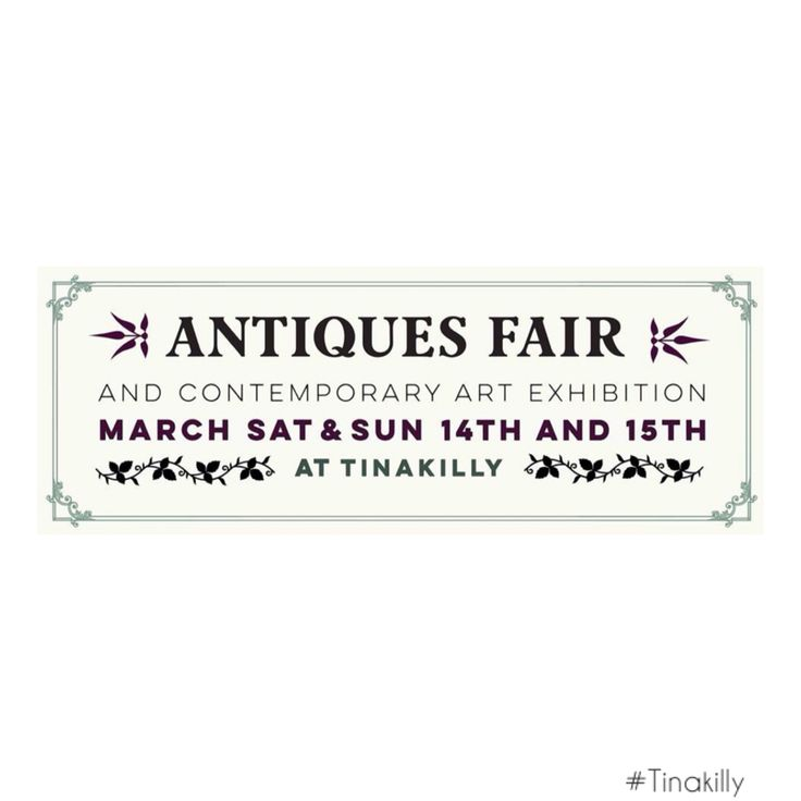 Mark your diary #Tinakilly #AntiquesFair