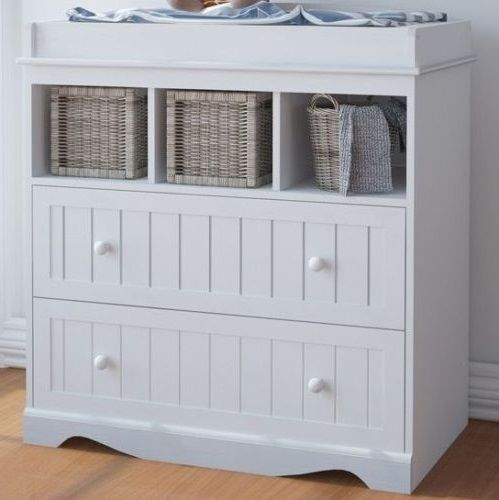 Baby Changing Unit Cabinet Table White Station Infant Kids Storage Furniture