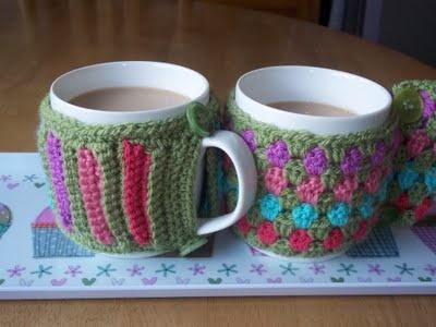 Crochet Mug Cosies - free pattern