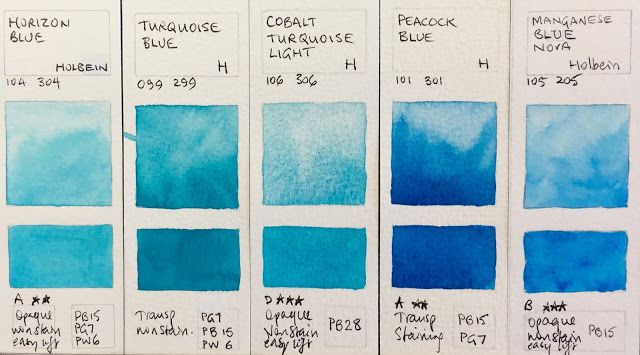 Holbein Artist Watercolour Paint Swatches Happy Paintings