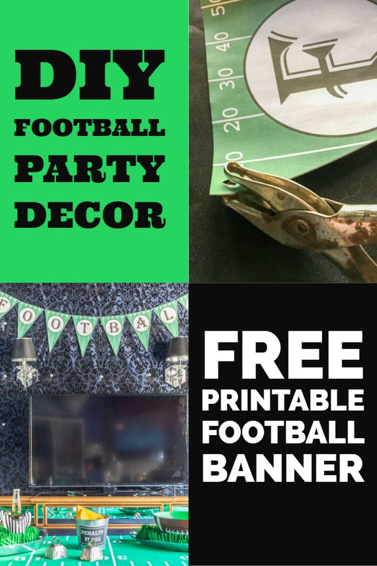 Free Printable Football Party Banner