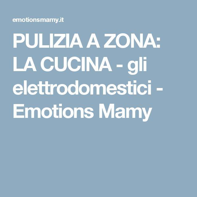 PULIZIA A ZONA: LA CUCINA - gli elettrodomestici - Emotions Mamy