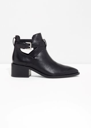 & Other Stories | Cut Out Ankle Boot