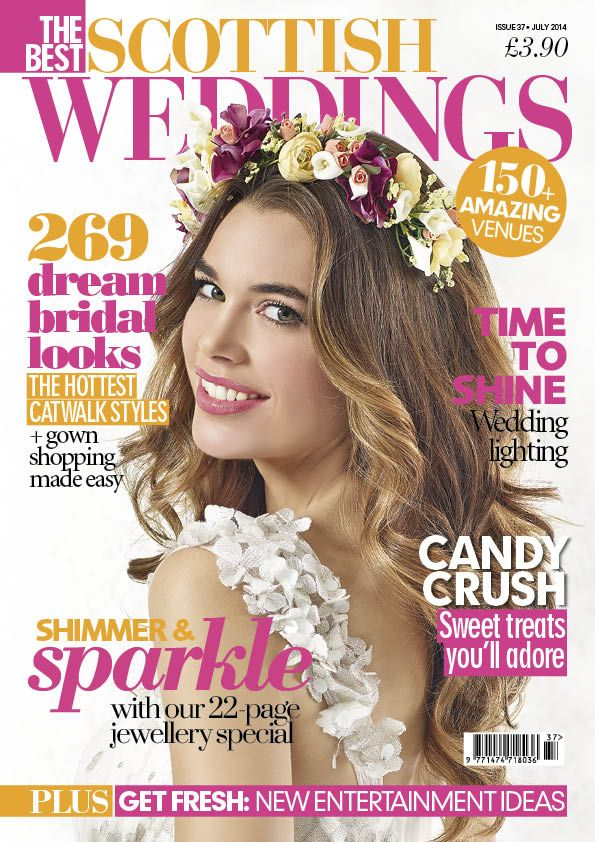 The Best Scottish Weddings Magazine, July 2014 issue. Featuring Blanche in the Brambles.