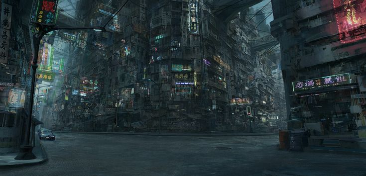 New Kowloon Walled City, levy wang on ArtStation at https://www.artstation.com/artwork/GqDgB