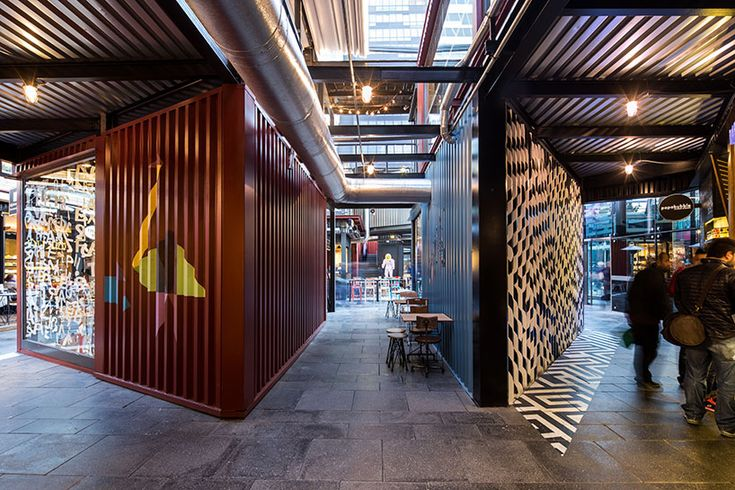GAD architecture's shipping container trumpe cadde comercial center