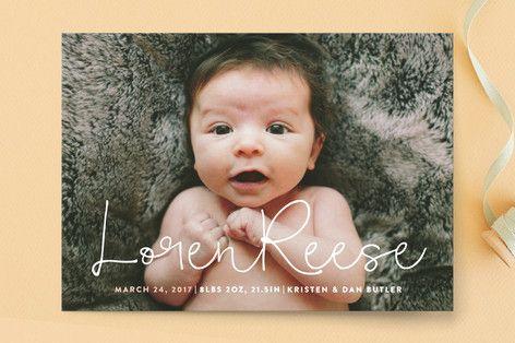 Signature Birth Announcement Petite Cards