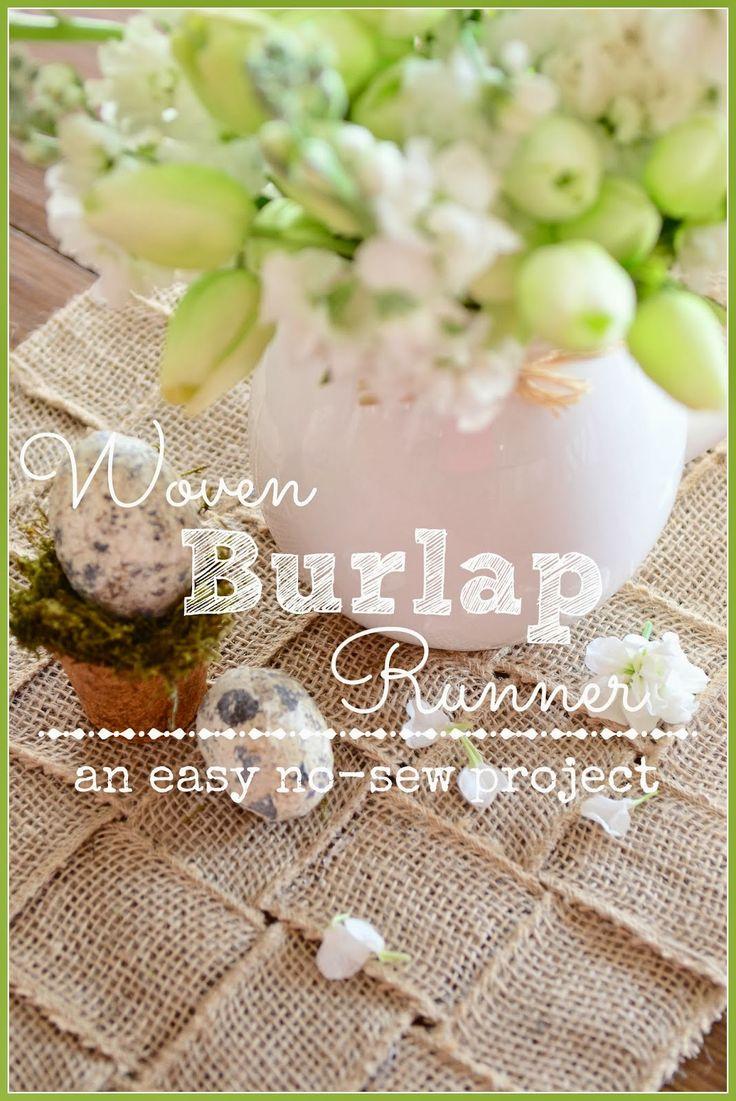 38 best burlap table runners images on pinterest burlap for Burlap fabric projects