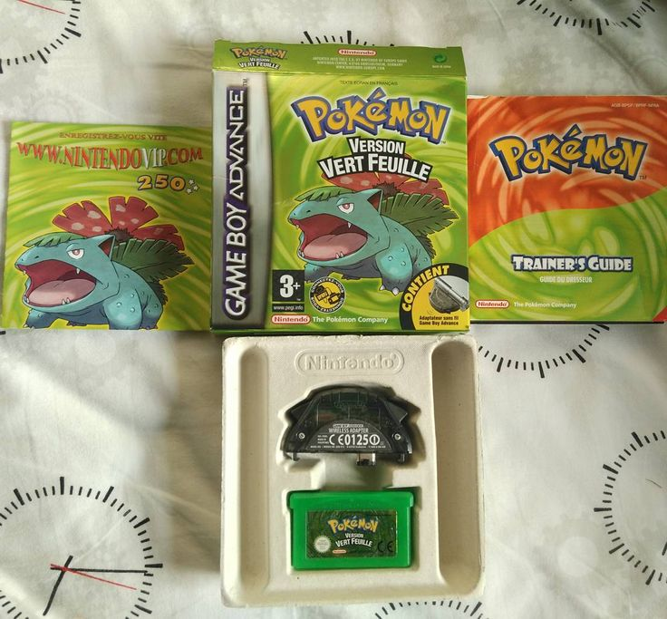 mudkip.zip: pokemon version vert feuille !  Me rappel trop de souvenirs !   #pokemonfr #pokemon #vert #vertfeuille #game #gameboy #gameboyadvance #bulbizarre #florizarre #souvenir  #mudkipzip #gameboy #microobbit