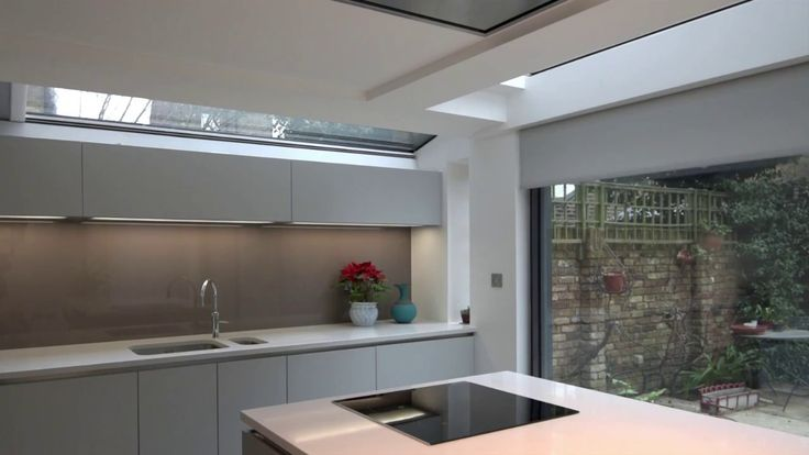 Concealed blinds in London kitchen extension