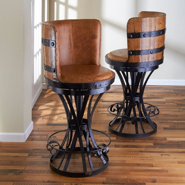 Best 25 Wine Barrel Bar Stools Ideas On Pinterest Wine