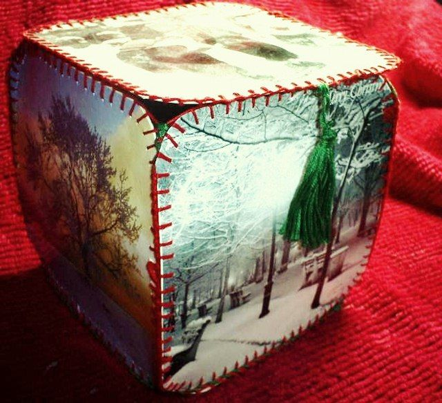 How to Make a Victorian Box Out Of Old Greetings Cards