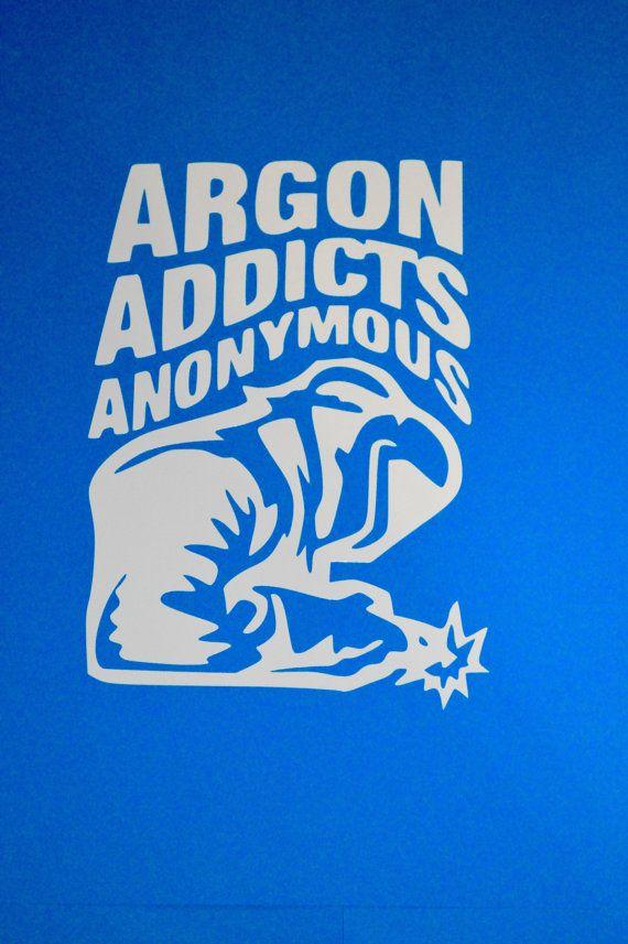 Argon Addicts Anonymous Welding Sticker di AtticusJames su Etsy