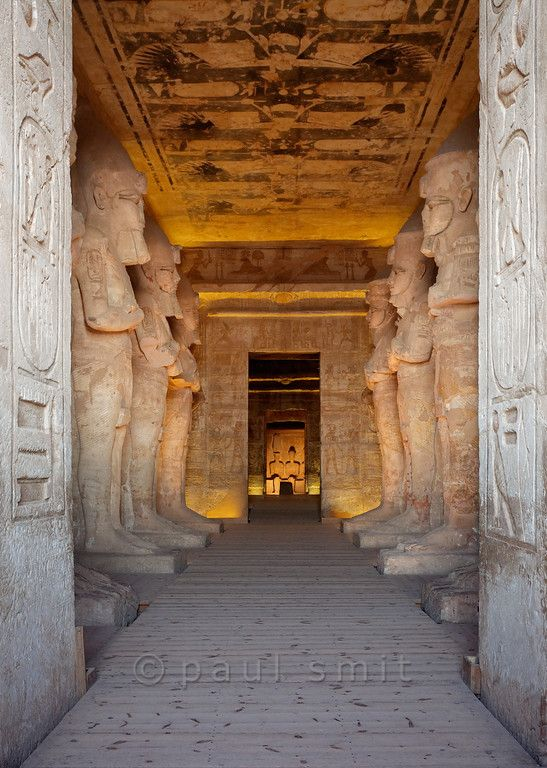 [Egypt 29750] 'Interior of the Great Temple at Abu Simbel.'