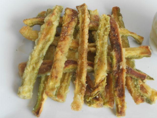 Zucchine sabbiate croccanti al forno