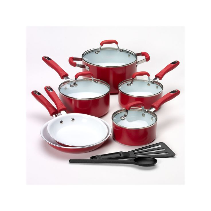 Guy Fieri 12-pc. Nonstick Cookware Set, Red