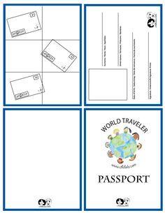 passport template - passport for kids -  passport - www.chillola.com                                                                                                                                                     Mais