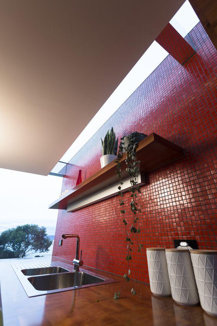 #architecture #homedesign #glass #natural #tasmania #kitchen
