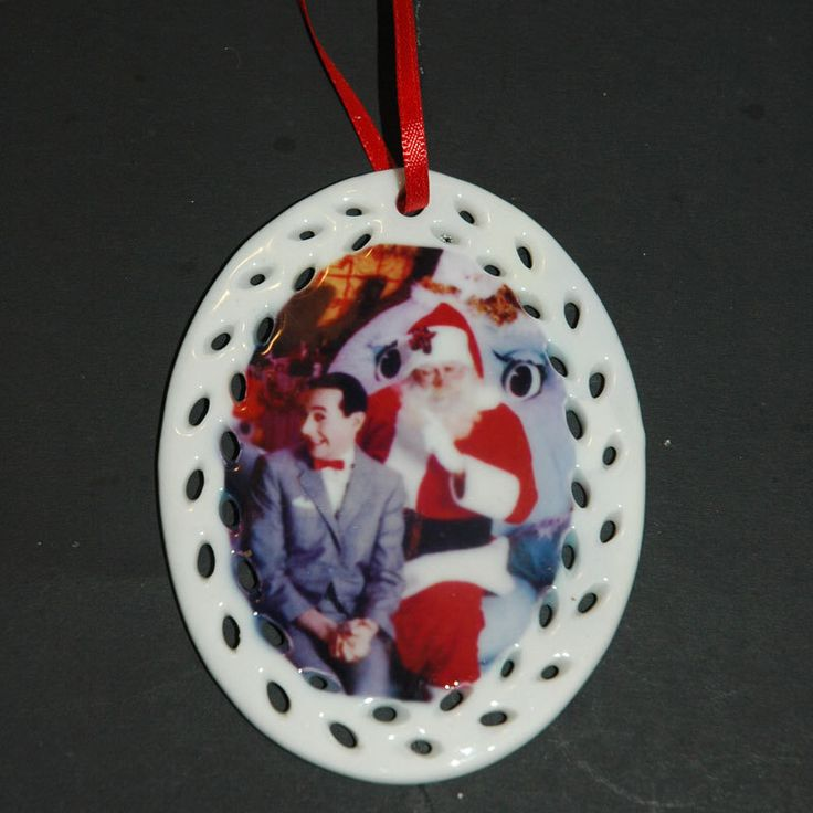 Pee Wee Herman Printed Porcelain Christmas Ornament ~ Kitsch, Pee Wees Play House by TheSpiderandFly on Etsy https://www.etsy.com/listing/257863308/pee-wee-herman-printed-porcelain