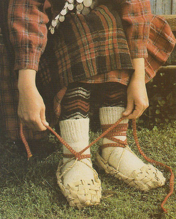 Birch bark shoes - lapti