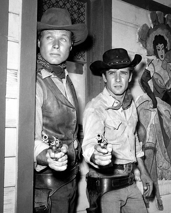 Robert Fuller and John Smith in the Television Series 'Laramie'