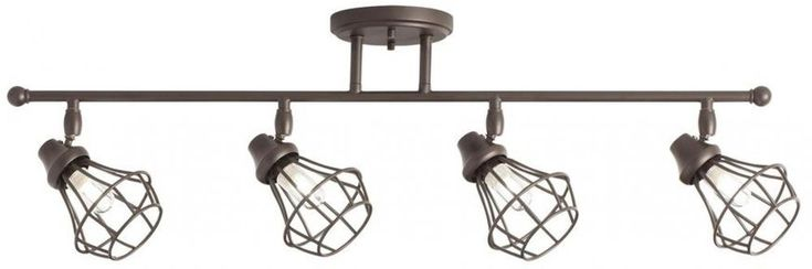 Dimmable: Yes. Fixture heads can be adjusted to provide light where you need it. Fixture Finish: Antique. Fixture Color Family: Bronze. Includes old bronze finish metal wire bulb cages. Manufacturer Color/Finish: Old bronze. | eBay!