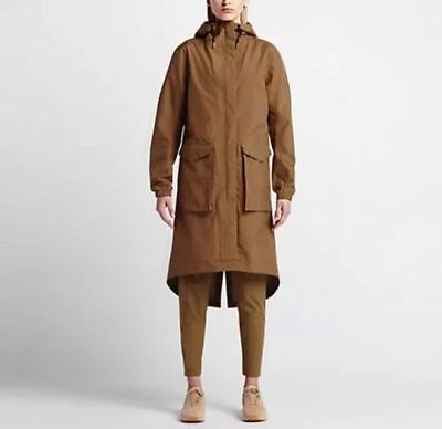 NWT Women Nike Lab Essentials Storm-Fit Parka Jacket Beige 841582 245 SZ M Clothing, Shoes & Accessories:Women's Clothing:Athletic Apparel